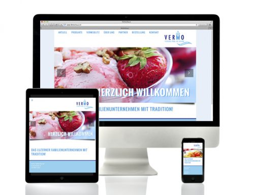 Webdesign Responsive | Vermo Tiefkühl Pool AG